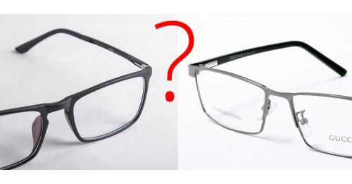 Nên chọn gọng kính nhựa hay gọng kính kim loại ?